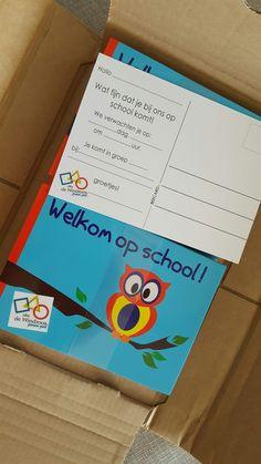 Ouderbetrokkenheid in de basisschool. Een kaartje mét schoollogo om nieuwe leerlingen welkom te heten. Info@beecard.nl