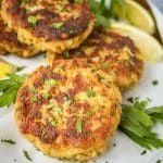 This crispy fried tuna patties recipe is a quick, easy & healthy dinner idea! Mayo keeps these tuna cakes tender on the inside, yet crunchy on the outside. Fish Patties, Veggie Patties, Salmon Patties Recipe, Best Seafood Recipes, Tuna Recipes, Cooking Recipes, Healthy Recipes, Bariatric Recipes, Diet Recipes
