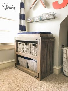 43 New Ideas Baby Diy Changing Table Children Baby Crib Diy, Baby Nursery Diy, Baby Bedroom, Baby Cribs, Nursery Ideas, Nursery Crib, Bedroom Art, Rustic Changing Tables, Baby Changing Tables