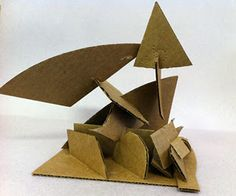 cardboard sculptures - SOMETHING THAT THE KID AND THE DADDY CAN DO TOGETHER THIS WEEKEND! :)