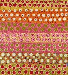 Wildflowers by Mulykuya Ken - World Folk Art - Find Stained Gourds, Metal Wall Hangings. Aboriginal Painting, Aboriginal Artists, Dot Painting, Textile Patterns, Print Patterns, Textiles, Fun Patterns, Pattern Art, Pattern Design