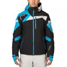Spyder Titan Jacket Herren Skijacke schwarz blau #spyder #skibekleidung #outlet #sporthausmarquardt