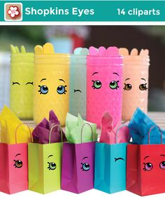 14 Shopkins ojos transparentes Cliparts alta por MaryAnnColors
