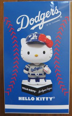 Hello Kitty Bobblehead 2013 Los Angeles Dodgers Brand New!