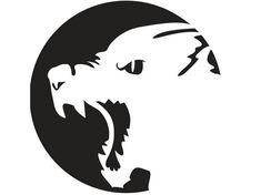 böser Werwolf und Mond