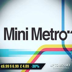 Sila Games summer sale #gamedeals Mini Metro -30% Off $6.99 6.99 4.89 http://ift.tt/2rwCmAQ #plugindigital #pcgaming #pcgamer #gaming #siladeals