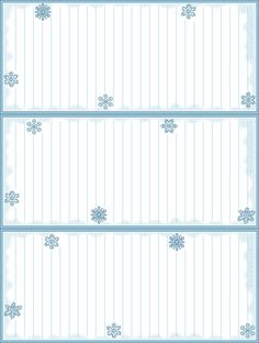 Printable Lists - Lots of free printables here!! -- snowflakels1.png (638×845)