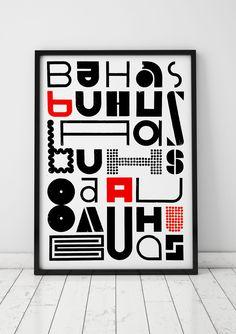 bauhaus, letterpress poster by cabaret typographie