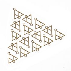 New to GoldieSupplies on Etsy: SALE - 15 Pcs Geometric Triangle Connector Raw Brass Charms Triangle Link Charm Laser-Cut Pendants Boho Jewelry Goldie Jewelry Supplies (8.99 USD)