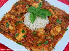 Chicken Cacciatore- Spicy (the cacciatore equivalent of chop salad. yum.)