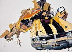 """Ben Quilty - I found out about Ben's work through Ben's grandmother. I remember his grandmother saying, """"My grandson is a painter! He's crazy! He loves painting cars. If you go to his house, there are pictures of cars everywhere! Car Painting, Love Painting, Painting & Drawing, Viking Art, Art Archive, Dream Art, Boy Art, Australian Artists, Art Projects"""