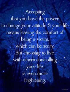 Claim your power.....