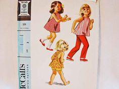 1960s Little Girls Dress Pattern #Vintage #Sewing #Pattern
