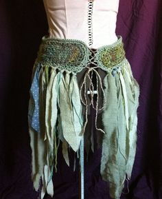 willow and river faerie skirt with handspun by FairyTailsandFauns. I will wear similar clothes all summer long. Faerie Costume, Fairy Clothes, Bohemian Mode, Mannequins, Faeries, Diy Fashion, Fashion Shoes, Creations, Dress Up