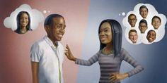 Разговаривая с девушкой, молодой человек думает только о ней, тогда как он для нее — один из многих