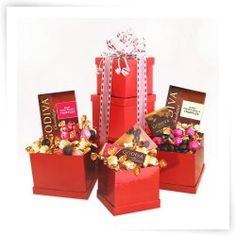 Godiva Heights of Passion Tower Gift Set