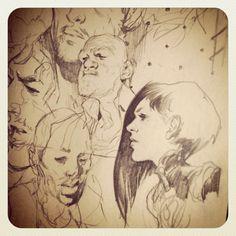 warmup page #sketching #moleskine #pencil #drawing
