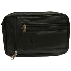 Taxi Driver Bag Black - Single Compartment Genuine Leather Taxi Driver Money Bag [531]