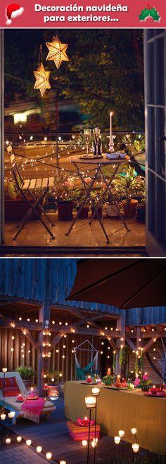 Decoración navideña para exteriores. Decoración navideña veraniega. Ideas para decorar la Navidad en exteriores.