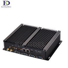 Kingdel Newest Fanless Mini Industrial PC, Desktop Computer,HTPC,i7-4500U Dual LAN,6*Com RS232,4*USB 3.0,Windows10,Wifi