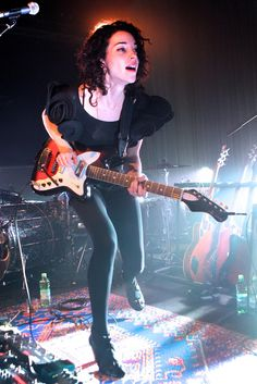 Annie Clark [St.Vincent]. My old music teacher/co-worker was in Polyphonic Spree with her, and my brother played some shows with her in high school :)