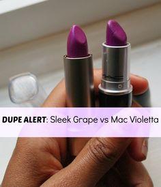 http://thebelleaventure.blogspot.co.uk/2013/06/dupe-alert-sleek-grape-vs-mac-violetta.html
