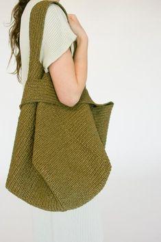 Lauren Manoogian Big Pinwheel Tote in Nori Hand Crochet, Hand Knitting, Crochet Bedspread Pattern, Big Tote Bags, Cotton Maxi Skirts, Net Bag, Pajama Shirt, Japanese Cotton, Crochet Handbags