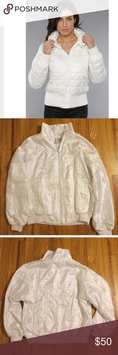 Adidas jacket , size S Like new , white . The first pic is for illustration only adidas Jackets & Coats