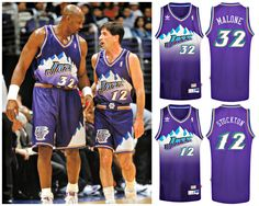 Stockton & Malone: one of the best NBA duos of all time, one of the best NBA jerseys of all time.