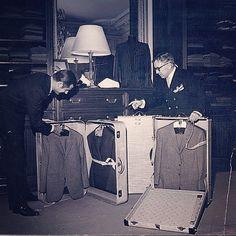 Vintage picture of Maestro Mr Camps in camps de luca shop.