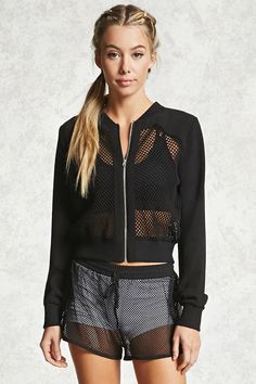 Active Realist Mesh Hoodie Source by Sport Fashion, Fitness Fashion, Womens Fashion, Cheap Fashion, Latest Fashion, Forever 21, Shop Forever, Sporty Outfits, Fashion Outfits