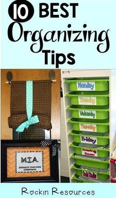 These organizing tips for my classroom saved me so much time!