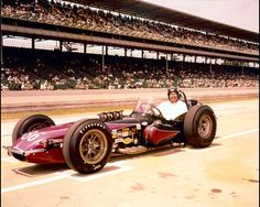 """1964 - Johnny Rutherford's (#86) No Major Sponsorship Shown - Qualified 15th, Speed (151.400 mph) Prior to the Race """"Bardahl"""" Picked up the Sponsorship and Car was Painted """"Bardahl Yellow"""" - Finished 27th, Crash Front Straight, Away, Lap 2"""