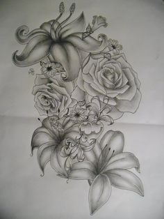 flowers tattoo design by *tattoosuzette on deviantART