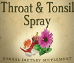 Natural THROAT & TONSIL SPRAY Herbal Blend by NaturalHopeHerbals