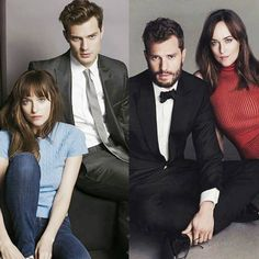 FSOG 2013 vs FSD 2017 50 Shades Trilogy, Fifty Shades Series, Johnson Family, Film Base, Christian Grey, Fifty Shades Of Grey, Dakota Johnson, Jamie Dornan, Movie Tv