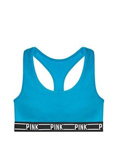 571d7547bd Victorias Secret PINK Logo Racerback Bra Medium Blue    You can get more  details by