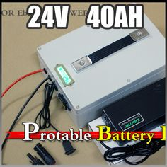 24V 40Ah electric bike Protable battery , 1000W Electric Bicycle lithium Battery + BMS Charger 24v li-ion scooter battery pack