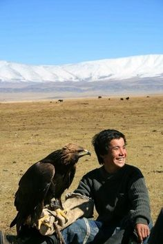 Part of a Mongolian boy becoming a man is when he gets his first eagle. He does so by climbing a cliff to an eagles nest. The young bird and boy become inseparable.