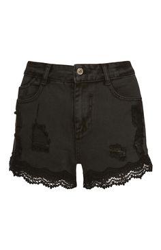 Primark - Zwarte spijkershorts met hoge taille