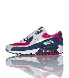 online store a54cf b7e59 NIKE Low top sneaker Air bubble heel Built in shock support Front lace  closure Nike Swoosh Cushioned sole for ultimate comfort White, pink, navy,  silver