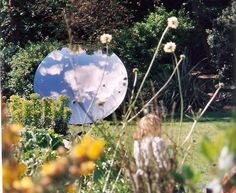 Amish Kapoor's sky mirror on the Royal Pavilion gardens, as part of the Brighton Festival , 2009.