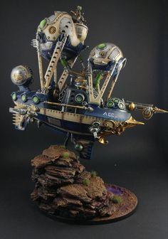 Warhammer Age of Sigmar | Kharadron Overlords | Arkanaut Frigate  http://wellofeternitypl.blogspot.com #warhammer #ageofsigmar #aos #sigmar #wh #whfb #gw #gamesworkshop #wellofeternity #miniatures #wargaming #hobby #fantasy