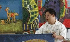 Artist with down syndrome