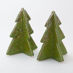 Keramik weihnachtliche Tannenbäume von isi-way.com