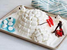 Marshmallow Igloo Cake with Polar Friends