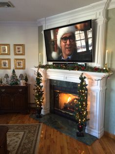TV above fireplace...there is hope for some decoration with a tv