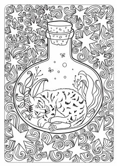 The tales of old forest  Free anti-stress coloring book for adult and children