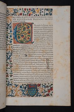 Decorated page in Blondus, Flavius: Italia illustrata by University of Glasgow Library, via Flickr