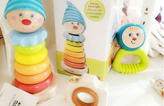 Sweet wooden toys for infant / toddler play.